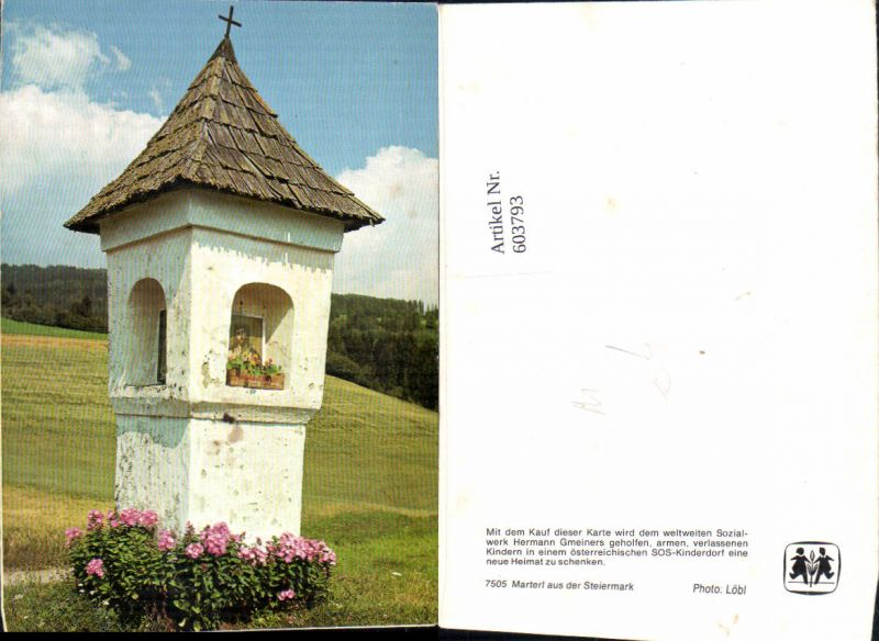 603793,Marterl a. d. Steiermark Bildstock Flurkreuz Religion