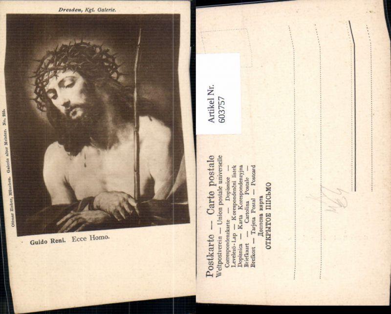 603757,Künstler Ak Guido Reni Ecce Homo Jesus Dornenkrone Religion pub Ottmar Zieher 255