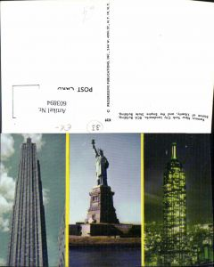 603894,Mehrbild Ak New York City RCA Building Statue of Liberty Empire State Building