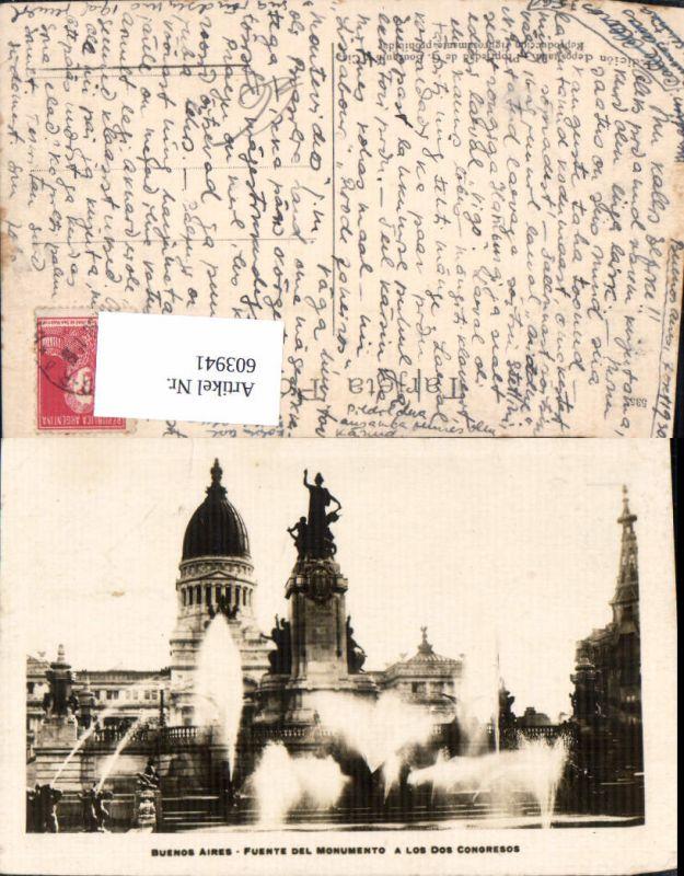 603941,Buenos Aires Fuente del Monumento a Los Dos Congresos Argentinien