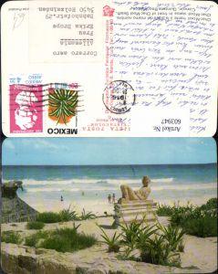 603947,Chac-Mool statue Chac-Mool Beach Cancun Quintana Roo Mexico Mexiko Strand Strandleben