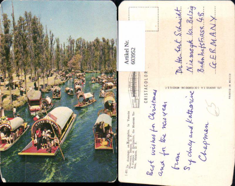 603952,Mexico Mexiko Xochimilco the Mexican Venice Boote