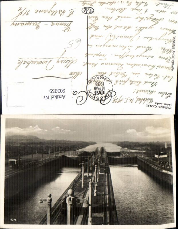 603959,Panama Canal Gatun Locks Schleuse Kanal