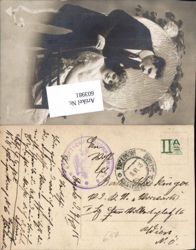 603981,K. u. K. Feldpost Luftschifferkompagnie 6 Rundstempel Hercegnovi 1915