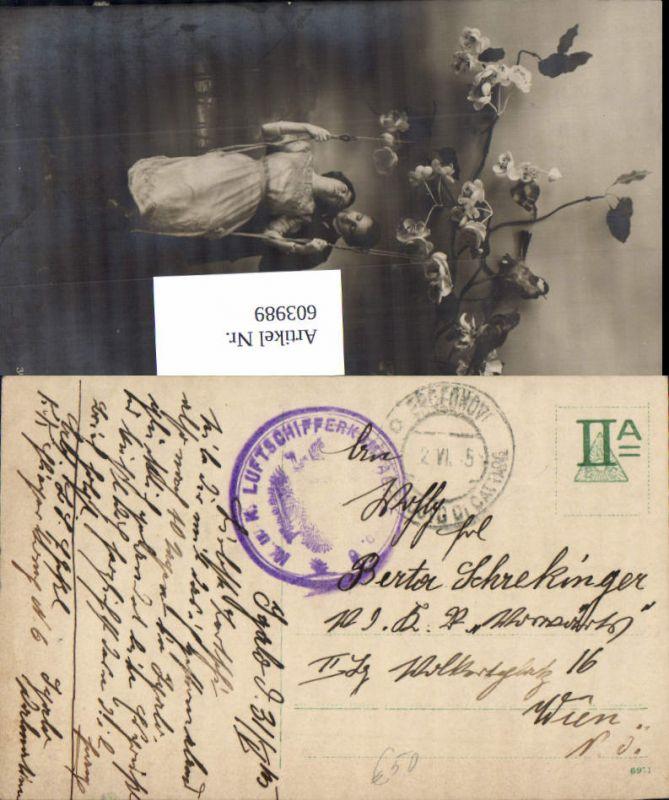 603989,K. u. K. Feldpost Luftschifferkompagnie 6 Hercegnovi Castellnuovo Rundstempel