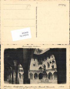 604568,Künstler AK Radierung Krakau Krakow Poland Bibliothek Kopernika