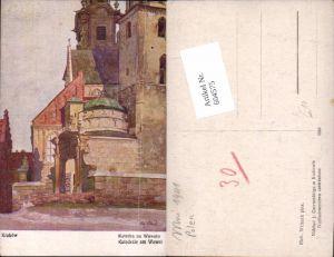 604575,tolle Künstler AK Richard Wiltsch Krakau Krakow Poland Katedrale Wawel
