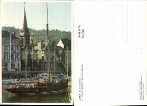 604789,Honfleur Calvados Vieux greement quai Saint-Etienne Segelschiffe Segelboot France