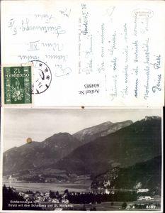 604865,Foto Ak Strobl m. d. Schafberg u. St Wolfgang i. Salzkammergut pub F. E. Brandt 5167