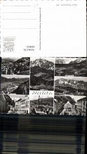 604916,Mehrbild Ak Hallein u. Dürrnberg Salzbergwerk Barmstein Pramerplatz