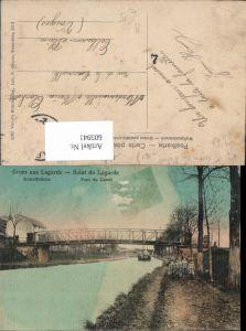 605941,Gruss a. Lagarde Salut de Lagarde Kanalbrücke Pont du Canal France