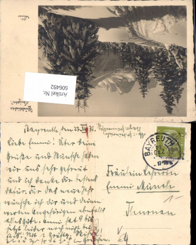 606492,Stempel Bayreuth n. Thurnau 1932