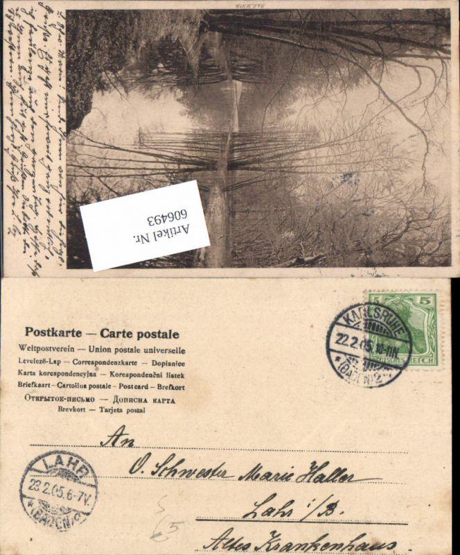 606493,Stempel Karlsruhe n. Stp. Lahr in Baden Krankenhaus 1905