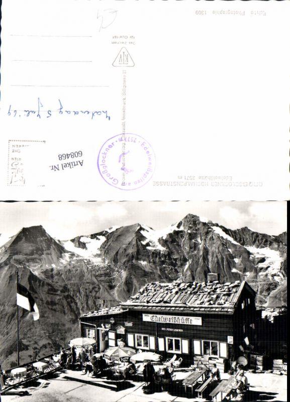 608468,Grossglockner Hochalpenstrasse Edelweißhütte Bensdorp Reklame Schirm