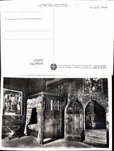 608927,Foto Ak Merano Meran Castello Principesco Camera da letto Burg Schlafzimmer Italy