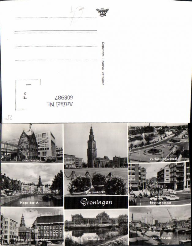 608987,Mehrbild Ak Groningen Martinitoren Goudkantoor Netherlands