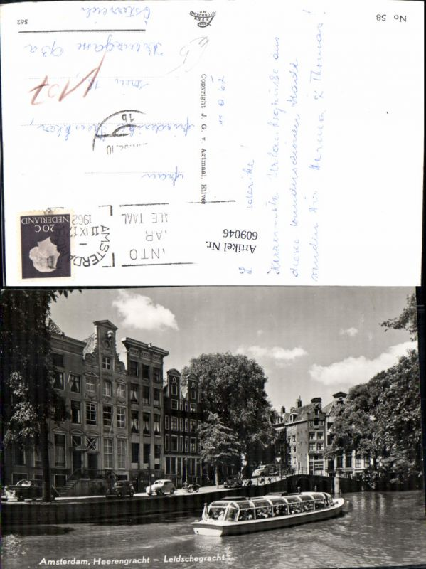 609046,Amsterdam Heerengracht Leidschegracht Schiff Boot Netherlands