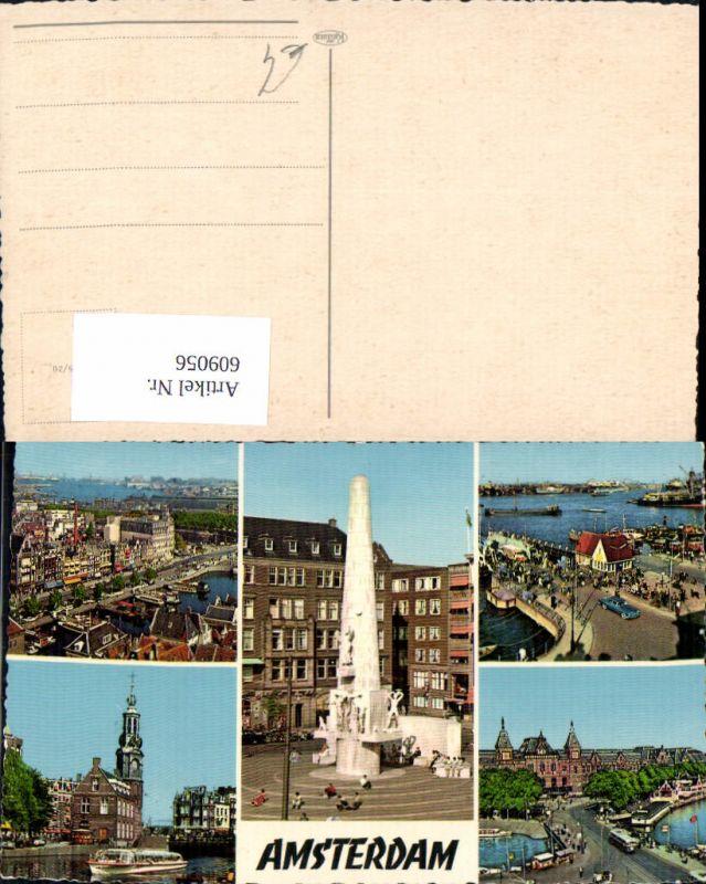 609056,Mehrbild Ak Amsterdam Schiff Hafen Netherlands