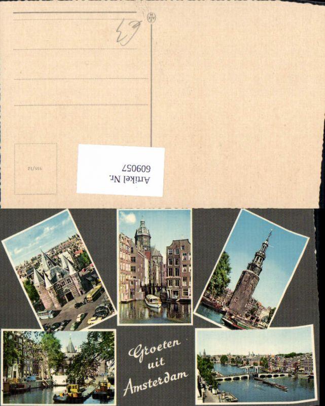 609057,Mehrbild Ak Groeten uit Amsterdam Netherlands