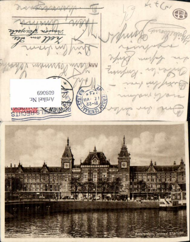 609069,Amsterdam Centraal Station Bahnhof Netherlands