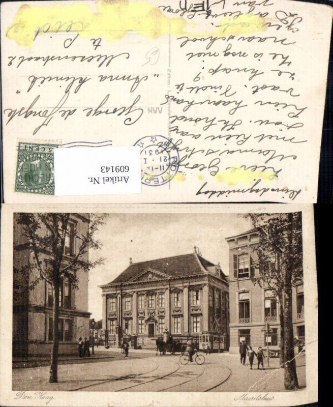 609143,Den Haag Mauritshuis Straßenbahn Kutsche Netherlands