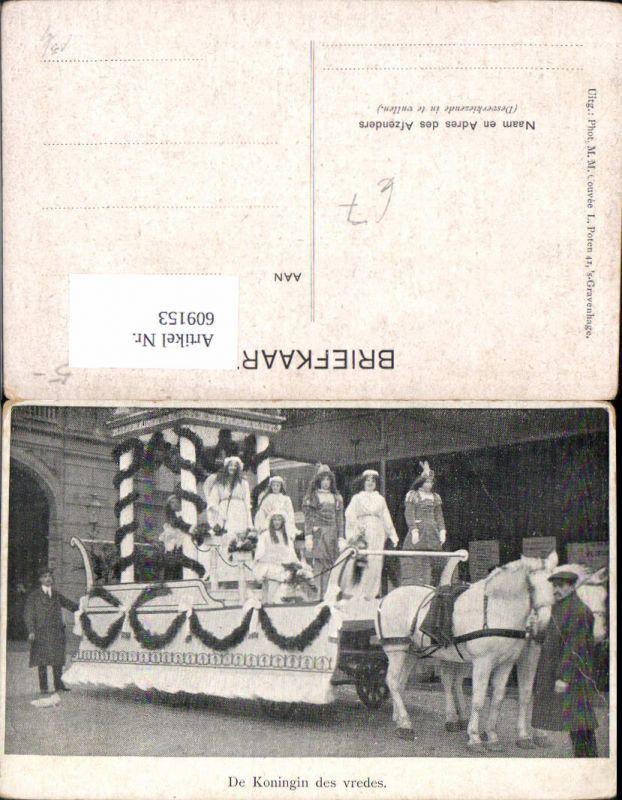 609153,De Koningin des vredes s´Gravenhage Umzug Festwagen Netherlands