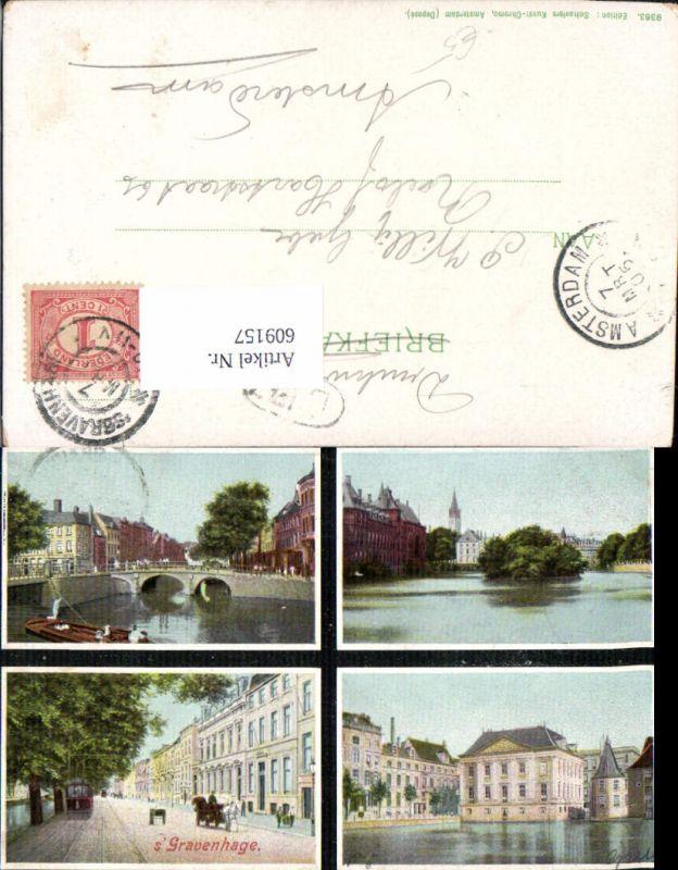 609157,Mehrbild Ak ´s Gravenhage Brücke Straßenbahn Netherlands