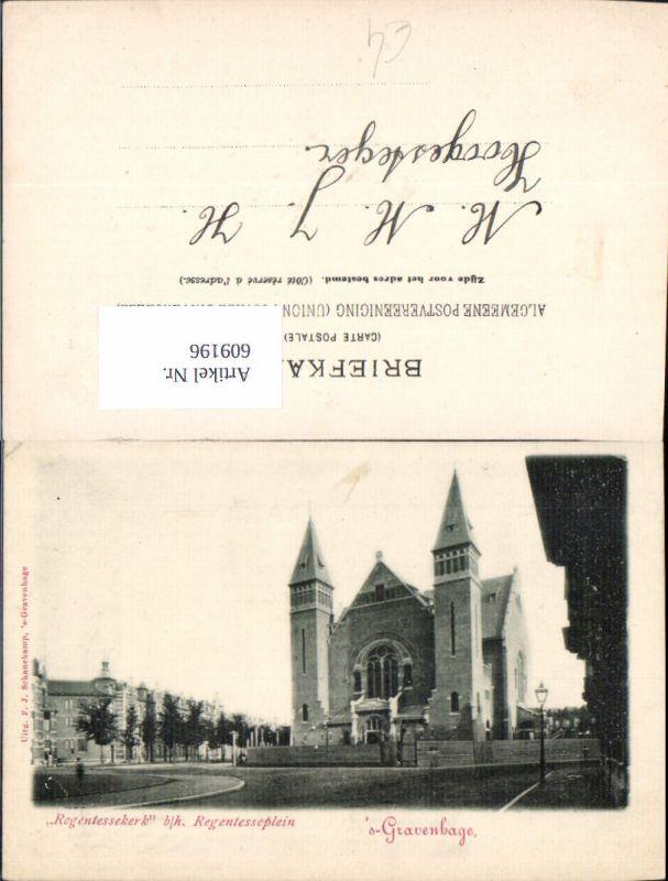 609196,´s Gravenhage Regentessekerk b/h. Regentesseplein Netherlands