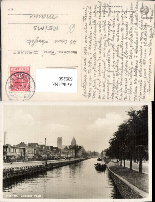 609260,Foto Ak Haarlem Leidsche Vaart Schiff Netherlands
