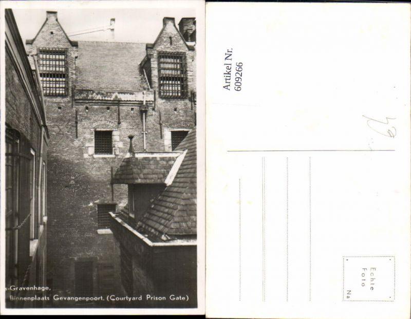 609266,Foto Ak ´s Gravenhage Binnenplaats Gevangenpoort Gefängnis Netherlands