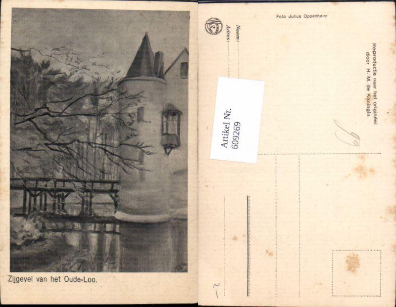 609269,Künstler Ak Zijgevel van het Oude-Loo Netherlands