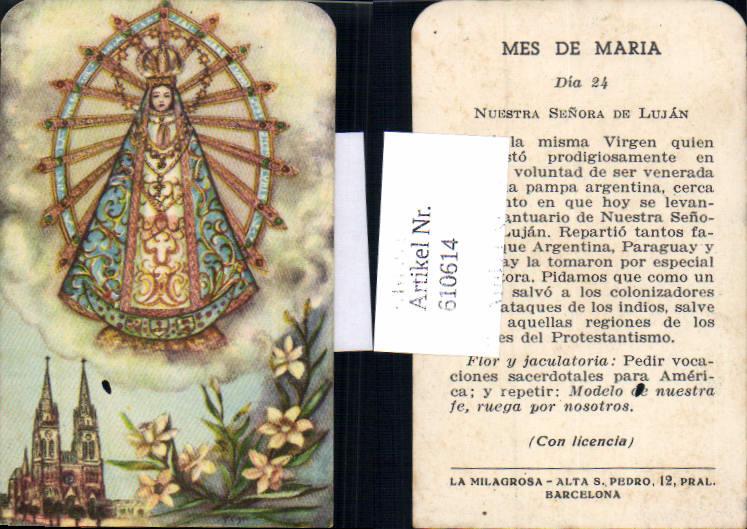 610614,Andachtsbild Heiligenbildchen Gnadenbild Maria Alta San Pedro