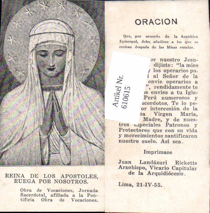 610615,Andachtsbild Heiligenbildchen Apostel beten gebet Lima Peru