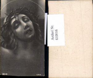 610616,Andachtsbild Heiligenbildchen Jesus Dornenkrone