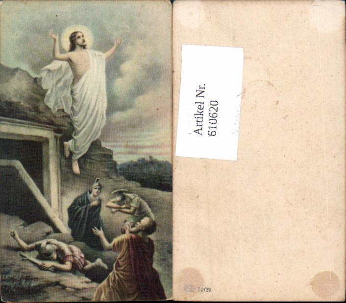 610620,Andachtsbild Heiligenbildchen Jesus Auferstehung Ostern Soldaten Römer