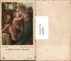 610623,Andachtsbild Heiligenbildchen S. Botticelli Maria Jesus