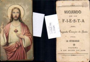 610624,Andachtsbild Heiligenbildchen Herz Jesu Jesus Nepena Peru