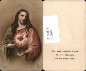 610629,Andachtsbild Heiligenbildchen Herz Jesu Jesus SS. CC. Recoleta
