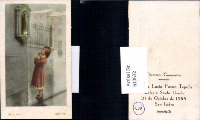 610632,Andachtsbild Kind betet Maria Statue San Isidro Peru Santa Ursula