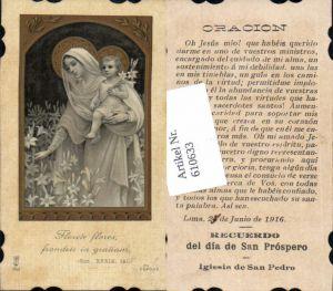 610633,Andachtsbild Heiligenbildchen Maria Jesus San Pedro Peru Lima