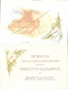 611678,Riesen-AK Brünn Brno Beamten der Telegraphenstation 1904