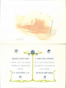 611680,Riesen Jugendstil AK FIUME Rijeka Telegraphenstation 1904 Augura