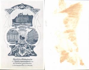 611681,Riesen Jugendstil AK Karlsbad Vorsteher der Beamten d. Postamt Telegraphenamtes 1904