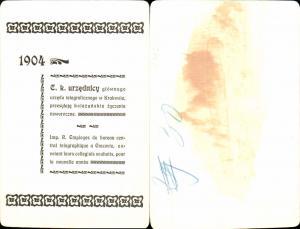 611682,Riesen AK Krakau Krakow 1904 Telegraphenstation