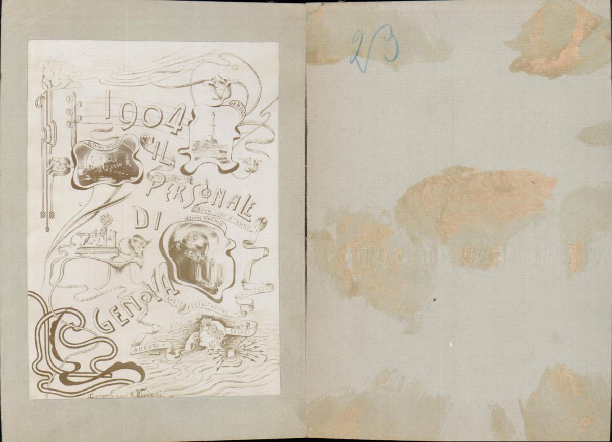 611687,CDV Foto Telegraphenstation GENOVA Genua Jugendstil Miriani & 1904