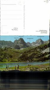 611857,Seebensee b. Ehrwald Blick auf Coburger Hütte u. Mieminger Berge