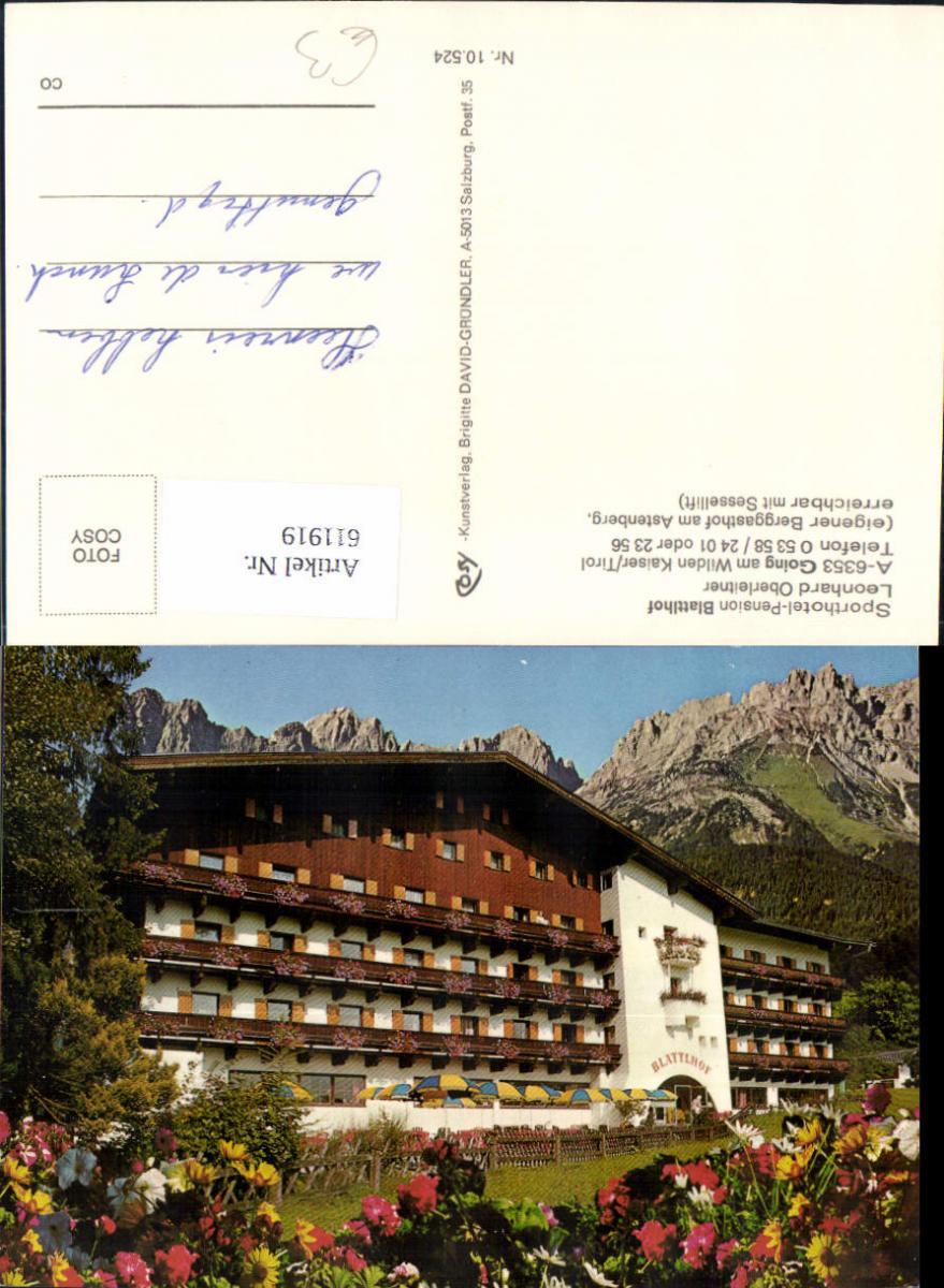 611919,Going a. Wilden Kaiser Sporthotel Pension Blattlhof