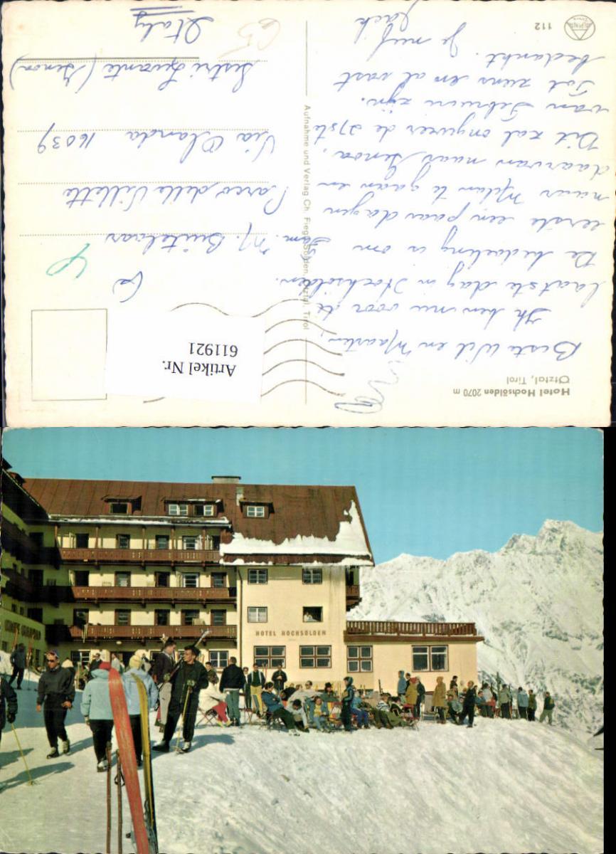 611921,Sölden Hotel Hochsölden Ötztal Wintersport