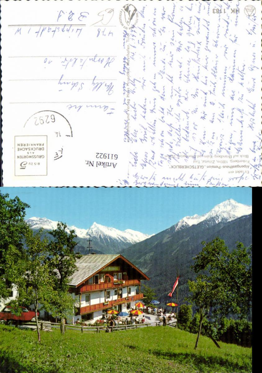 611922,Finkenberg Zillertal Alpengasthaus Pension Gletscherblick