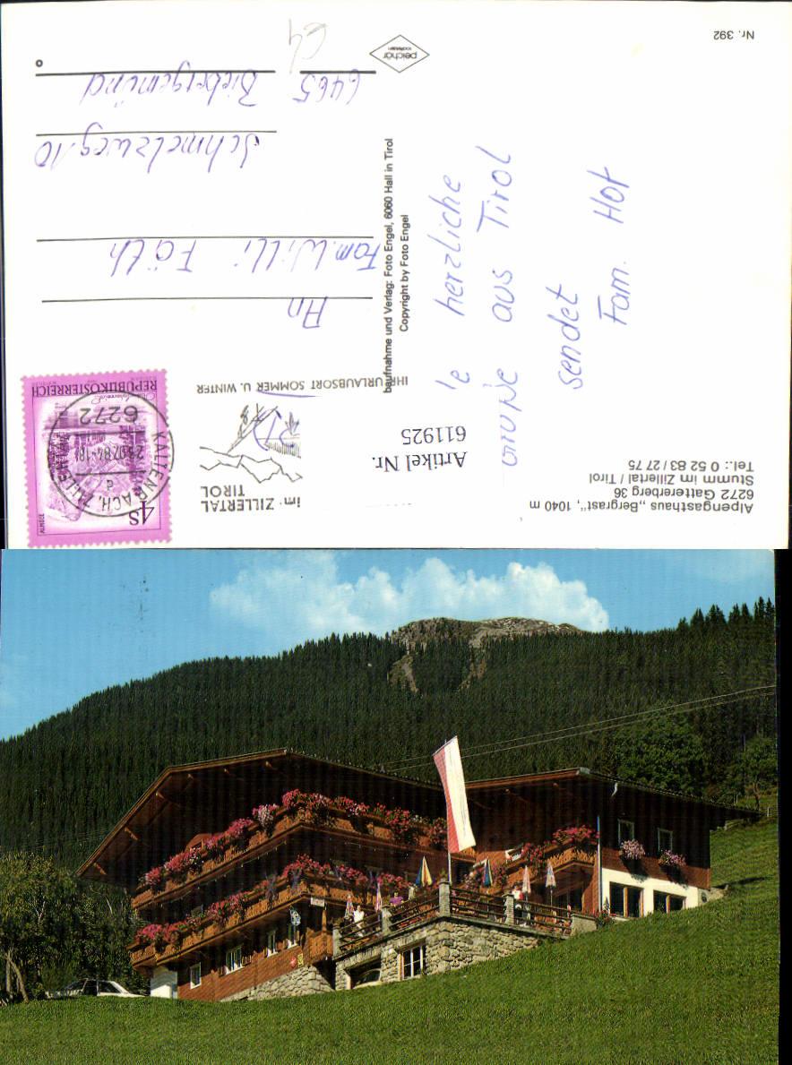 611925,Stumm i. Zillertal Alpengasthaus Bergrast